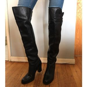 Via Spiga Black Over the Knee Boot Size 8.5